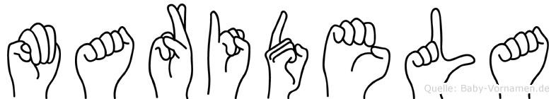 Maridela in Fingersprache für Gehörlose