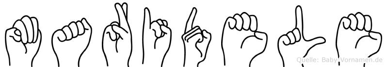 Maridele in Fingersprache für Gehörlose