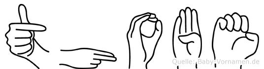 Thobe im Fingeralphabet der Deutschen Gebärdensprache