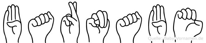 Barnabe im Fingeralphabet der Deutschen Gebärdensprache