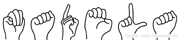 Madela im Fingeralphabet der Deutschen Gebärdensprache