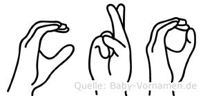 Cro in Fingersprache für Gehörlose