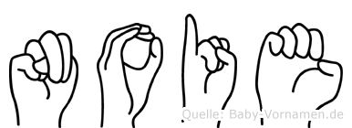 Noie in Fingersprache für Gehörlose