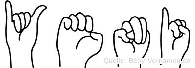 Yeni in Fingersprache für Gehörlose