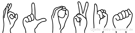 Flovia im Fingeralphabet der Deutschen Gebärdensprache