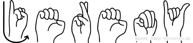 Jeremy in Fingersprache für Gehörlose