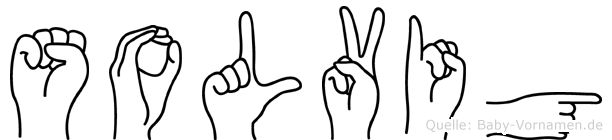 Solvig im Fingeralphabet der Deutschen Gebärdensprache
