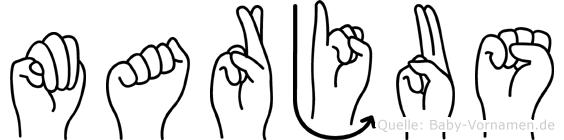 Marjus im Fingeralphabet der Deutschen Gebärdensprache