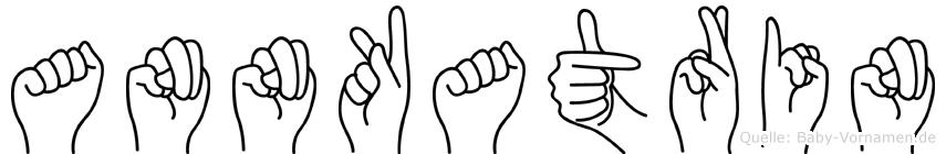 Annkatrin im Fingeralphabet der Deutschen Gebärdensprache