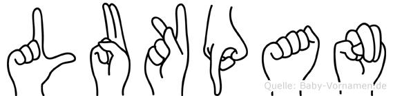 Lukpan in Fingersprache für Gehörlose