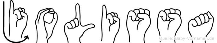 Jolissa in Fingersprache für Gehörlose