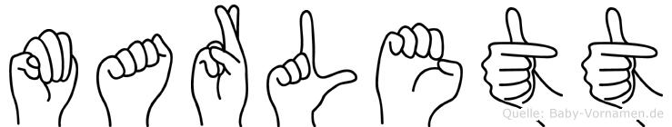 Marlett in Fingersprache für Gehörlose