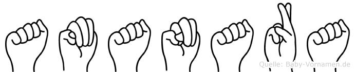 Amanara in Fingersprache für Gehörlose