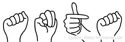 Anta in Fingersprache für Gehörlose