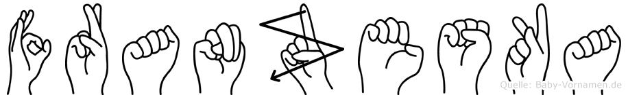 Franzeska in Fingersprache für Gehörlose