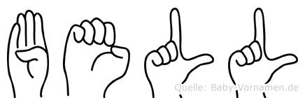 Bell in Fingersprache für Gehörlose