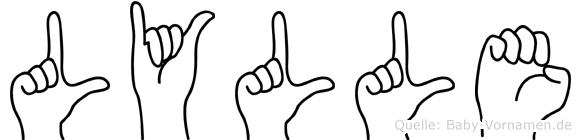 Lylle in Fingersprache für Gehörlose