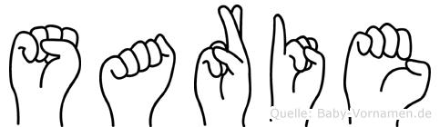 Sarie in Fingersprache für Gehörlose