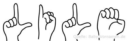 Lile im Fingeralphabet der Deutschen Gebärdensprache