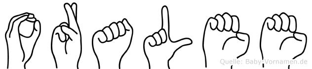 Oralee in Fingersprache für Gehörlose