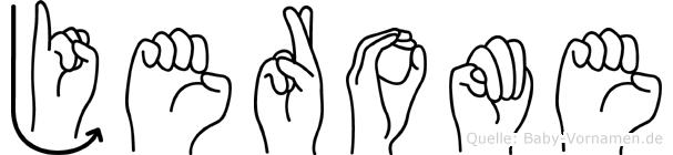 Jerome in Fingersprache für Gehörlose