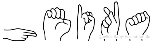 Heika im Fingeralphabet der Deutschen Gebärdensprache