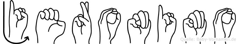 Jeronimo im Fingeralphabet der Deutschen Gebärdensprache