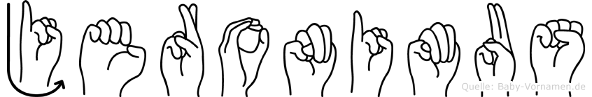 Jeronimus in Fingersprache für Gehörlose