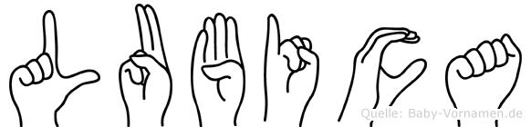 Lubica in Fingersprache für Gehörlose
