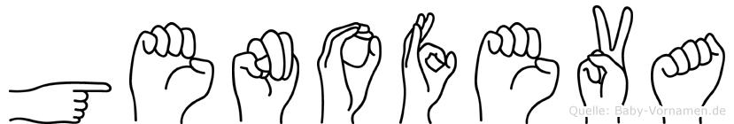 Genofeva im Fingeralphabet der Deutschen Gebärdensprache
