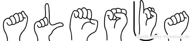 Alesja in Fingersprache für Gehörlose