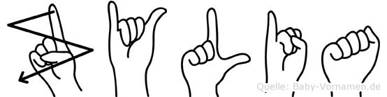 Zylia im Fingeralphabet der Deutschen Gebärdensprache