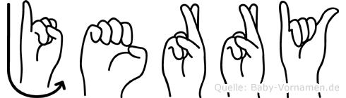 Jerry im Fingeralphabet der Deutschen Gebärdensprache