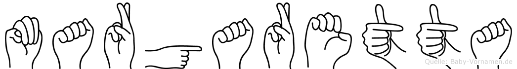 Margaretta in Fingersprache für Gehörlose