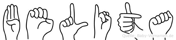 Belita in Fingersprache für Gehörlose