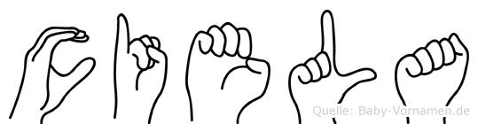 Ciela in Fingersprache für Gehörlose