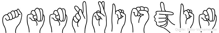 Annkristin im Fingeralphabet der Deutschen Gebärdensprache