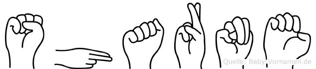 Sharne in Fingersprache für Gehörlose