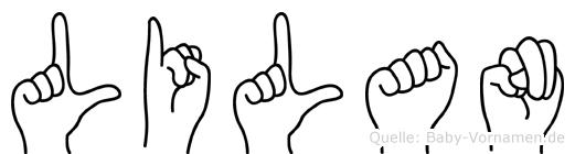 Lilan in Fingersprache für Gehörlose