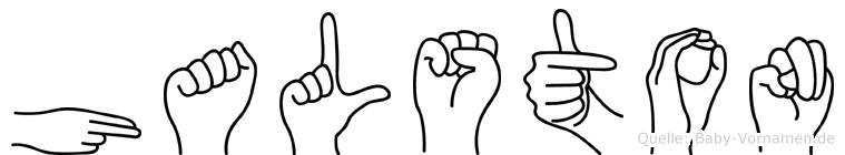 Halston in Fingersprache für Gehörlose