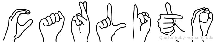 Carlito im Fingeralphabet der Deutschen Gebärdensprache