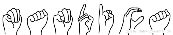 Mandica in Fingersprache für Gehörlose