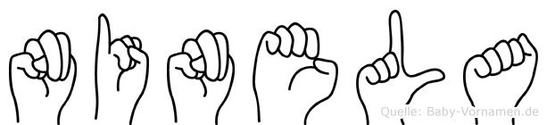 Ninela im Fingeralphabet der Deutschen Gebärdensprache
