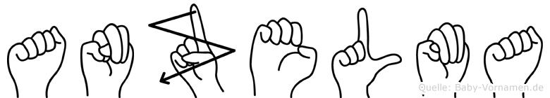 Anzelma im Fingeralphabet der Deutschen Gebärdensprache