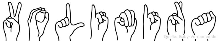 Volimira im Fingeralphabet der Deutschen Gebärdensprache
