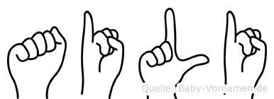 Aili in Fingersprache für Gehörlose
