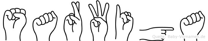 Sarwiga in Fingersprache für Gehörlose