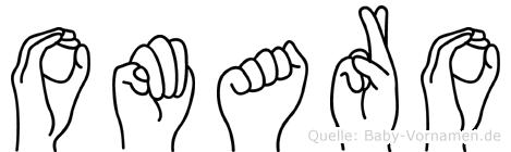 Omaro im Fingeralphabet der Deutschen Gebärdensprache