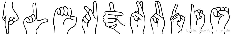 Plektrudis in Fingersprache für Gehörlose