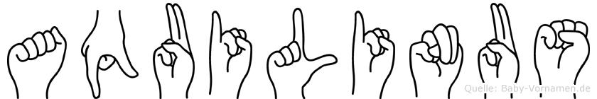 Aquilinus im Fingeralphabet der Deutschen Gebärdensprache